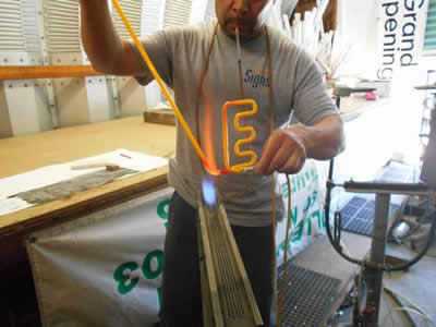 making a neon sign